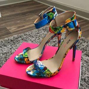 Blue Multicolored Heels